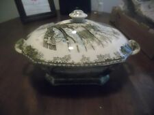 RARE Large Johnson Brothers THE FRIENDLY VILLAGE Rectangular Soup Tureen and lid