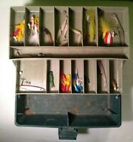 VINTAGE SPORTFISHER 250 TACKLE BOX FILLED WITH TACKLE AND LURES