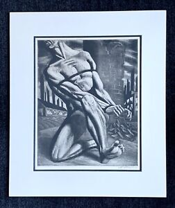 "Harry Sternberg signed aquatint ""Enough"" ~ 1947"