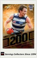 2018 AFL Footy Stars Trading Card Milestones Subset MG40 P.Dangerfield (Geelong)