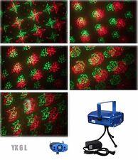 6 in 1 LED Laser Bühnenlicht Disco Party Lichteffekt Licht Lampe Projektor GX6L