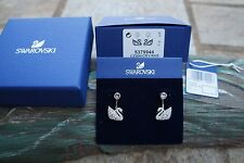 Swarovski 5379944 SWAN LAKE PIERCED EARRING JACKETS, WHITE, Authentic NIB