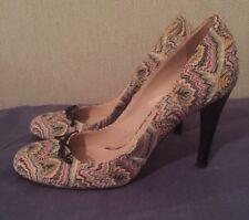 Missoni multicolor shoes heels 39/ US 8