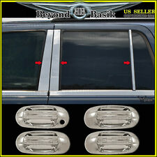 2003-2017 FORD Expedition Navigator Chrome Door Handle COVERS+6pc Pillar Post