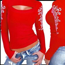 NEUseXy Tribal Tattoo Pullover misS Britney ROT S/M