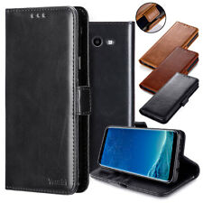 Samsung GALAXY J3 Prime Sol 2 Leather Flip Wallet Protective Case Cover BLACK