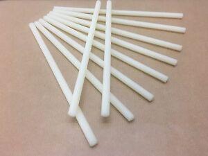Lote De 10 Varillas Roscadas Nailon M8 (Tornillo Plástico) Largo. 20cm X Rod