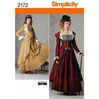 SIMPLICITY SEWING PATTERN Misses' Victorian era inspired coat skirt bustier 2172