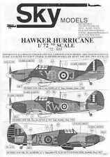 Sky Models Decals 1/72 HAWKER HURRICANE Fighter