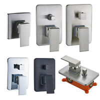 Brass Bathroom Shower Valve Mixer Tap Wall Mount Hot Cold Control Valve With Box