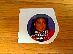 Unused sticker: Michael Jackson (given with Smash Hits magazine)