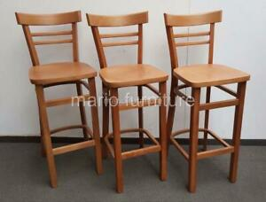 Solid Wood Bar Chairs SET OF 3, Brand NEW (022)