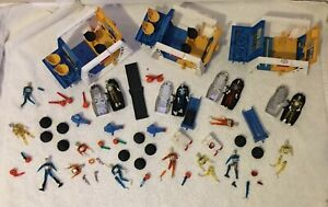Vintage Mego Micronauts Astro Station Lot Graveyard Extra Time Travelers & Parts
