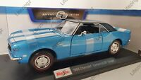 NEW MAISTO 1:18 Diecast Model Car 1968 Chevrolet Camaro Z/28 Coupe in Blue