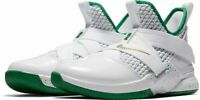 NIKE KIDS LEBRON SOLDIER XII GS - UK SIZE 5.5 - WHITE/GREEN (AA1352-100)