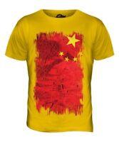 Chine Grunge Drapeau Hommes T-Shirt Haut Zh ? Nggu ? Peoples République Chinois