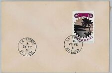ST LUCIA -  POSTAL HISTORY - COVER with nice postmark: La Pointe 1981