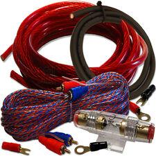 OFC 102K-AGU Kupfer Kabelset - 10mm² Profi Cu Kabel Set für Endstufe Verstärker