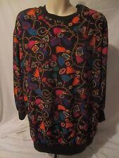 La Chine Plus Galinda Wang Colorful Long Sleeve Top Shirt Women's 22W - A187