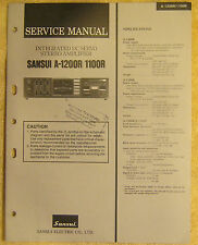 Sansui A-1200R / 1100R Integrated DC Servo Stereo Amplifier Service Manual vtg