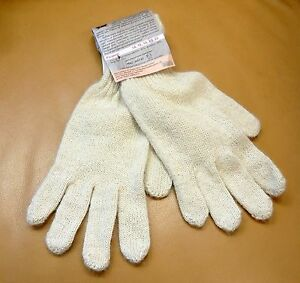 WOOL GLOVES ALPACA CAMEL THERAPEUTIC WARMING GLOVES OFF WHITE UNISEX NWT 8