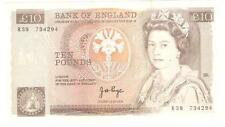 Offer>Old British  10pounds large banknote  very nice !