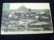 OLD PPC: MONT-St.-MICHEL~THE SALT MARSHES~SHEEP~ca 1923