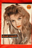 BRIGITTE BARDOT ON COVER 1958 VERY RARE EXYU MAGAZINE