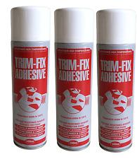 TRIM FIX 3x500ml High Temperature Adhesive Spray Glue car Van Lining carpet t5