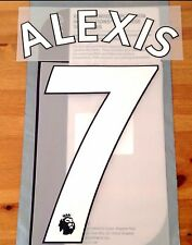 Arsenal Home Shirt 2017-18 ALEXIS#7 PS-Pro SportingiD Name & Number Set