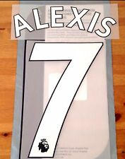 Arsenal Home/Away/Third Shirt 2017-18 ALEXIS#7 PS-Pro SportingiD Name Number Set