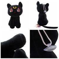 1 Pcs Anime Sailor Moon Soft Plush Doll Toy Black Cat Luna Anime Cosplay