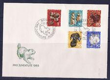 c/ Suisse enveloppe  pro juventute  1965  faune sauvage