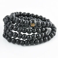 Sandalwood Buddhist Buddha Meditation Prayer Beads Mala Wrist Bracelet Necklace