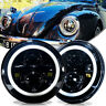 DOT 7 inch Round LED Headlights Kit for VW Beetle Classic Land Rover Toyota Jeep