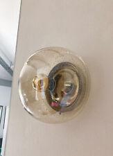 Mid Century Glas 70's Wandlampe Hillebrand Sconces Ice Glass Deckenleuchte