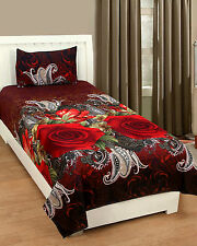 Homefab India 3D Single Bed-Sheet with 1 Pillow Cover (Single171)