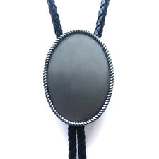 Oval Rope Blank Western Cowboy Rodeo Neck Bolo Tie