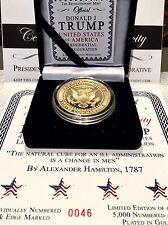 WOW. WOW. WOW. Gold Series II 2017 Trump Presidential Inauguration Medallion