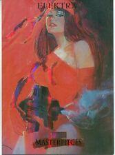 Marvel Masterpieces 2007 Fleer Foil Parallel Base Card #28 Elektra