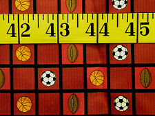 SOCCER BALL FOOTBALL BASKETBALL 100% POLYESTER  FABRIC 31X21 INCHES
