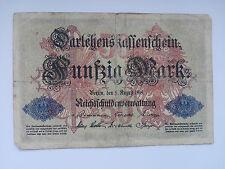 50 MARK billet de 1914 (très belle/Cat. Nº 0050 A)
