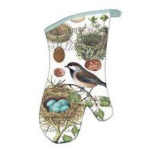 Michel Design Works Cotton Kitchen Oven Mitt Bird Nest & Eggs - NEW