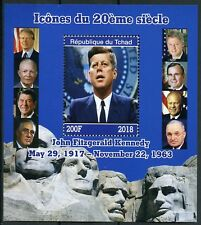 Chad 2018 MNH JFK John F Kennedy 1v M/S US Presidents Famous People Stamps