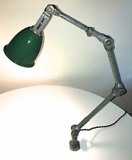 Vintage Dugdill's Industrial Lamp Green Enamelled Shade All Original - Rewired