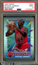 1994 Finest Refractor #331 Michael Jordan Chicago Bulls HOF PSA 9 MINT