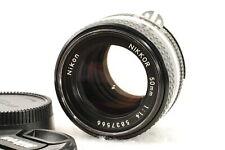 Nikon NIKKOR Ais Ai-s 50mm F1.4 MF Lens F Mount with caps【Exc+++】Japan F/S 06001