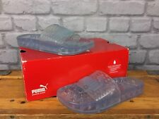 PUMA LADIES UK 3 EU 35.5  FENTY BY RHIANNA TRANSLUCENT WHITE JELLY SLIDES BEACH