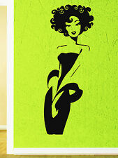 Wall Vinyl Sticker Decal Sexy Afro Girl Beautiful Black Chick Salon Spa (z603)