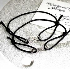 2 x Unisex INFINITY Friendship Bracelets - 'It's just you and me always' + Card